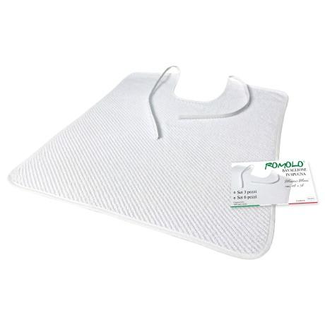 JEU DE BÂILLON uni blanc ROMOLO © gag avec lacets complet avec sac de lavage