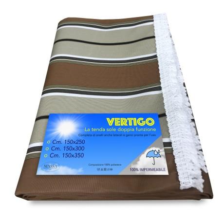 Vertigo Rideau de soleil en plein air pour jardin et balcon Rigino Marron imperméable et hydrofuge