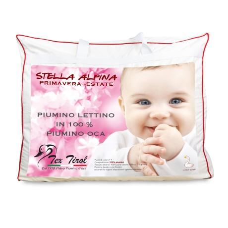 COUETTE tex tirol © STELLA ALPINA de LIT bébé 100% DUVET d'OIE 300 gsm cm. 80 x 120