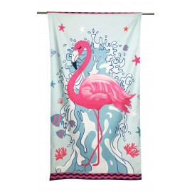 Flamingo Serviette de plage Grand format 90 x 170 cm