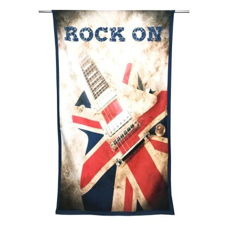 TELO MARE in spugna ROCK ON misura grande cm. 90 X 170 chitarra elettrica