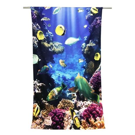 Serviette de plage en éponge pour toile de fond de mer 90 x 170 cm