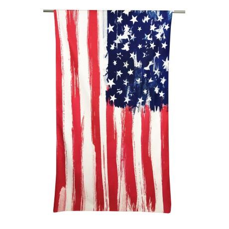 Serviette de plage éponge drapeau américain taille grand cm. 90 x 170