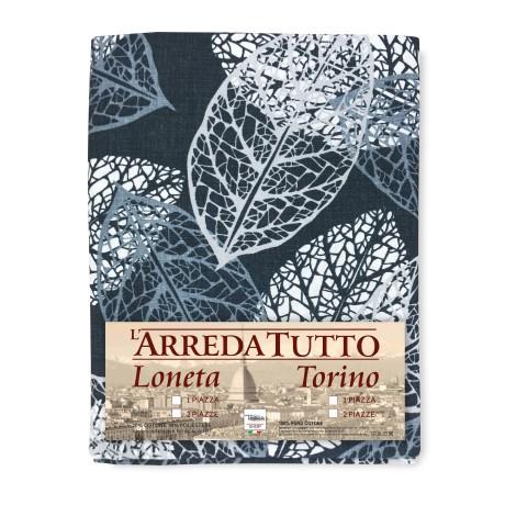 Serviette pour Meubles Grand Foulard Couvre-lit Canapé Tissu LONETA Feuilles