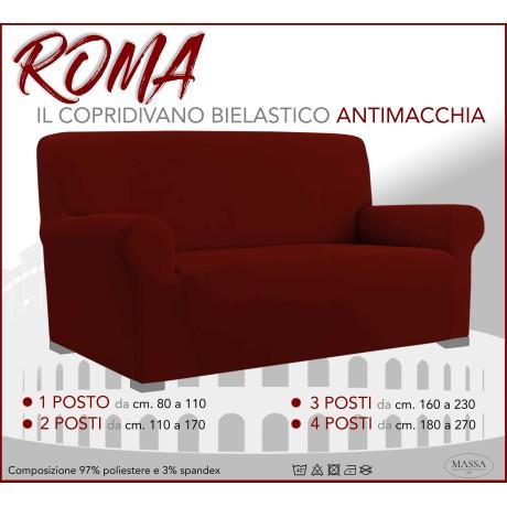 Housse de canapé universelle élastiquée et résistante aux taches ROMA Bordeaux