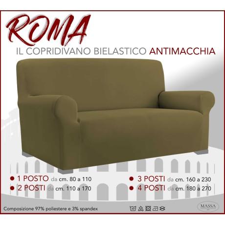 Housse de canapé universelle élastiquée et résistante aux taches ROMA Taupe