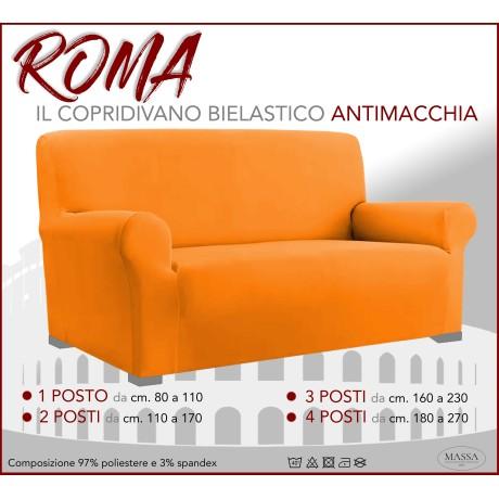 Housse de canapé universelle élastiquée et résistante aux taches ROMA ORANGE