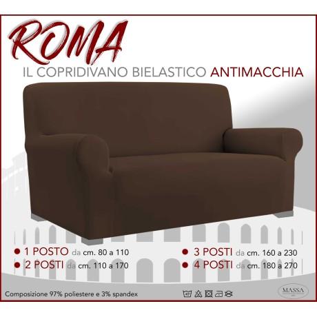 Housse de canapé universelle élastiquée et résistante aux taches ROMA BRUN