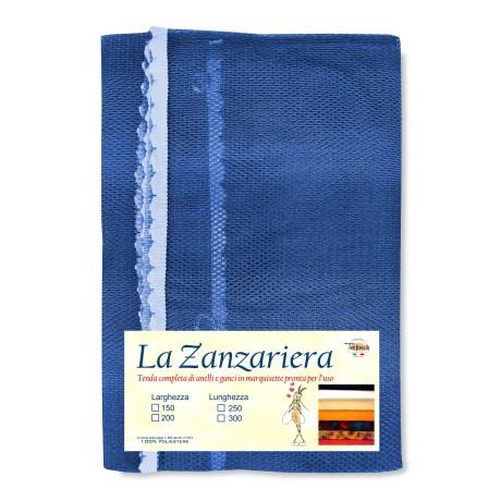 TENDA RETE ZANZARIERA DA ESTERNO GIARDINO BALCONE sfumato BLU CM.150X250