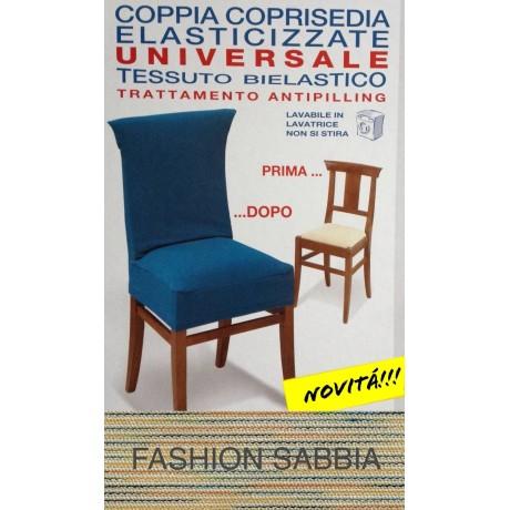 COPRISEDIA ELASTICIZZATO NEW YORK INTERO FASHION SABBIA