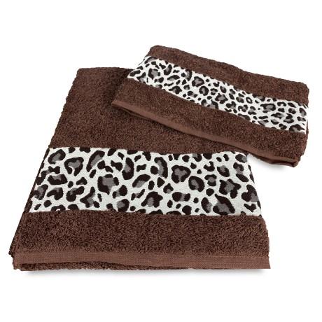LOT DE SERVIETTES léopard tacheté