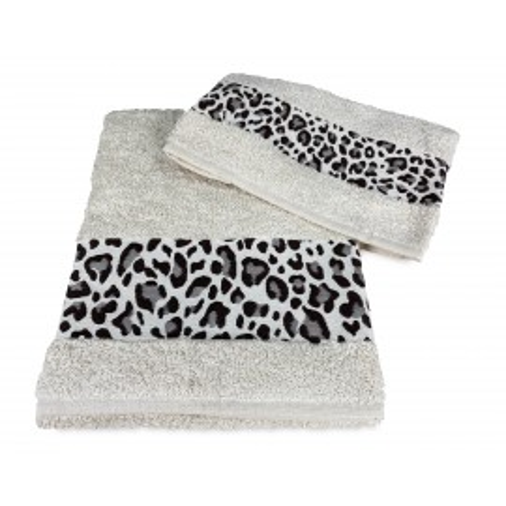 LOT DE SERVIETTES macula léopard beige