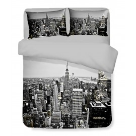 Housse de couette Sateen HD photo gratte-ciel New York