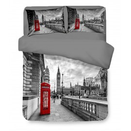 Housse de couette Sateen HD photo Londres cabine anglaise BIG BEN
