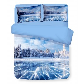 Housse de couette Sateen HD PHOTOGRAPHIE Icy Lake Double cm. 250x200