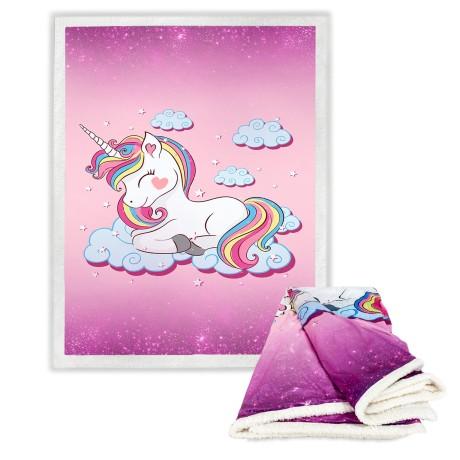 plaid unicorno per bambina