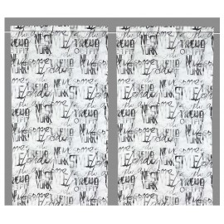 Rideau en verre MODERN 45, 60 ou 80 lettres en lin Made in Italy