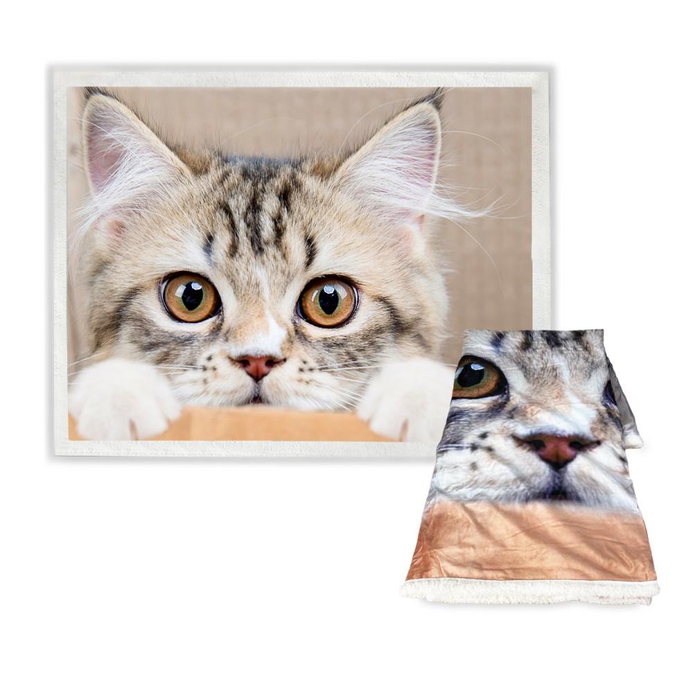 plaid stampato con gatto