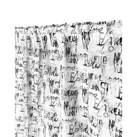 TENDA moderna SCRITTE cm.160X300 confezionata MADE in ITALY misto lino