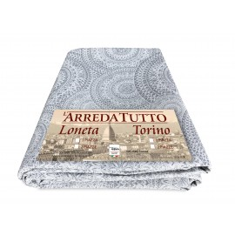 tissu de coton avec des cerceaux gris