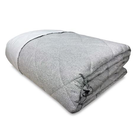 New Boy Couvre-lit matelassé en pur coton gris
