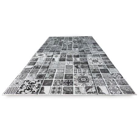 TAPIS de Coureur de CUISINE tapis de Coureur antidérapant CARRELAGE GRIS fabriqué en Italie