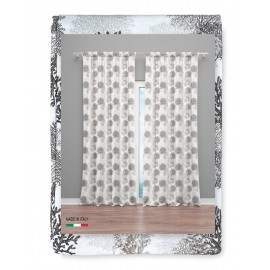 RIDEAU CORAIL beige cm.160x300 emballé MADE in ITALY lin mélange