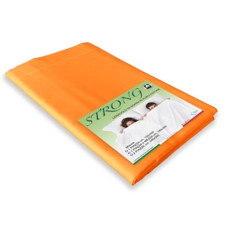 lenzuolo di sopra cordonetto arancio in puro cotone