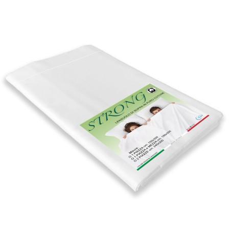 lenzuolo di sopra in puro cotone bianco