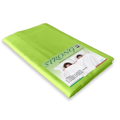feuille à l'étage en coton vert acide pur