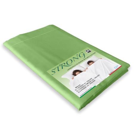 lenzuolo in cotone verde prateria
