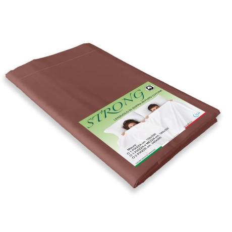 lenzuolo marrone in puro cotone
