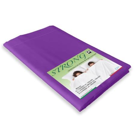 lenzuolo viola in puro cotone
