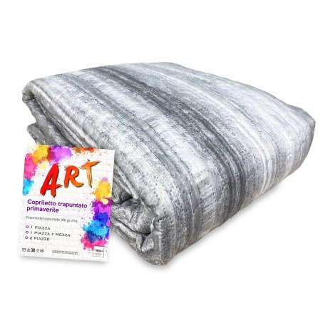 COPRILETTO trapuntato ART sfumato grigio