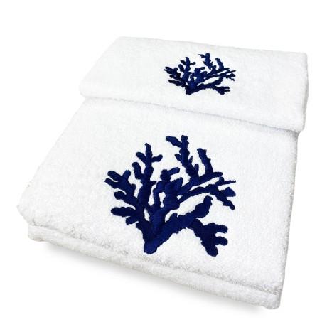 SET asciugamani CORALLO BLU...
