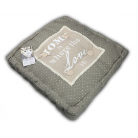 COPRISEDIA CUSCINO CASA E GIARDINO FUTON PARIS HOME IS WHERE THE LOVE CM.45X45