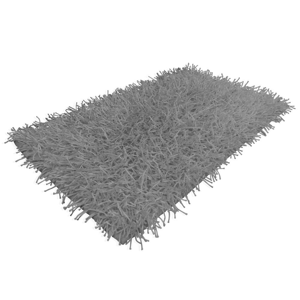 Tappeto shaggy grigio moderno tutte le misure