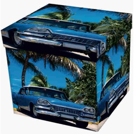 POUF CONTENITORE POGGIAPIEDI CUBA CAR