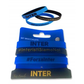 ENSEMBLE DE 3 BRACELETS OFFICIEL DE L'INTER