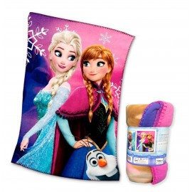 PLAID COPERTA IN PILE DISNEY FROZEN cm. 100 x 150