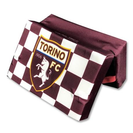 COUSSIN de STADE OFFICIEL TORINO FC FOOTBALL ORIGINAL BULL et de la carte postale de TURIN EST