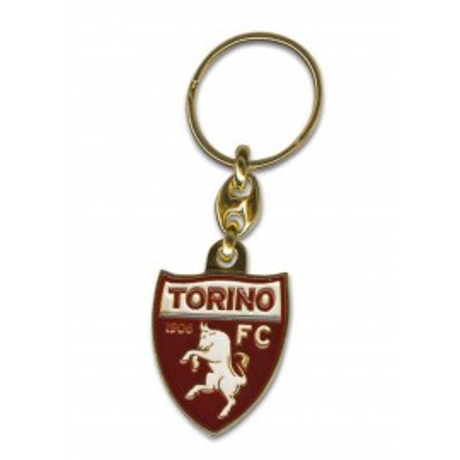 MÉTAL KEYCHAIN ÉMAIL TORINO FOOTBALL club FC et de la carte postale de TURIN EST