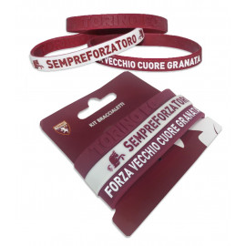 ENSEMBLE DE 3 BRACELETS OFFICIEL TORINO FC