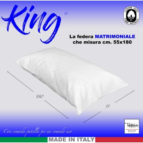 TAIE d'oreiller KING size mesures cm. 55 X 180