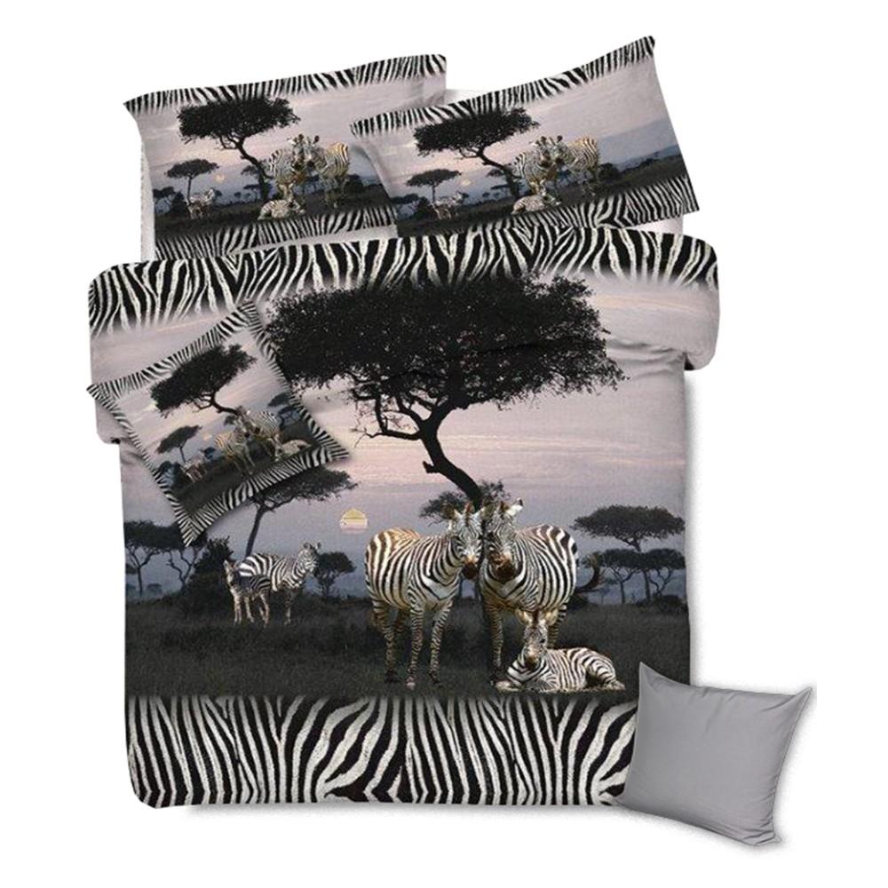 Stampa Copripiumino.Copripiumino Stampato Con Zebre Nella Savana Africana