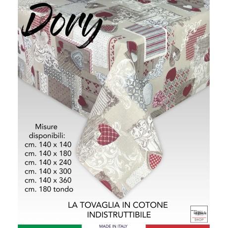 TOVAGLIA DORY TIROLESE CUORE MARGOT ROSSO