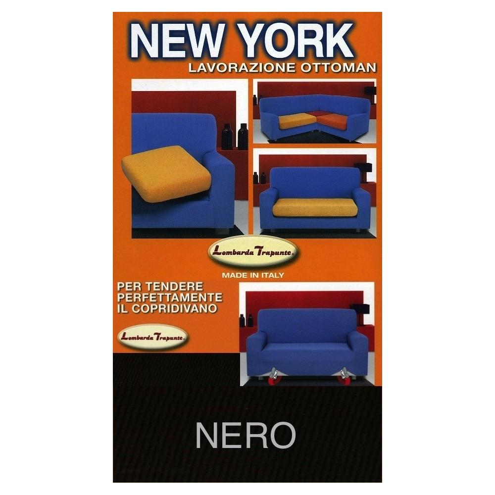 COPRIDIVANO NEW YORK NOIR fabriqué en Italie