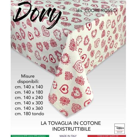 TOVAGLIA DORY TIROLESE CUORE ROSSO