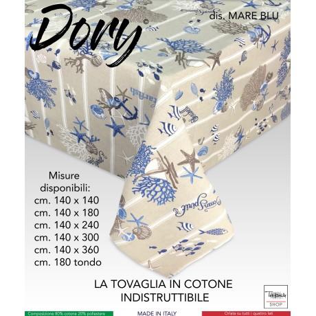 TOVAGLIA DORY MARE MARINO CORALLI BLU