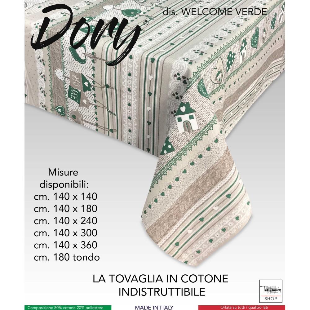 TOVAGLIA DORY TIROLESE CUORE WELCOME VERDE